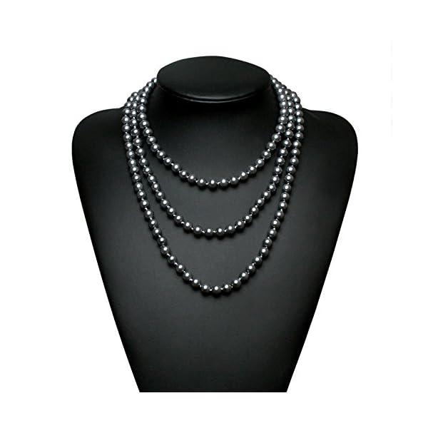 5a39fd70a BABEYOND Art Deco Fashion Faux Pearls Flapper Beads Cluster Long ...