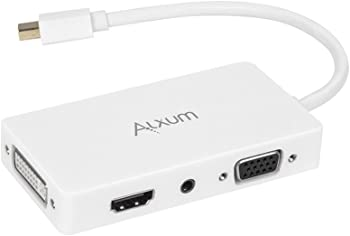 Alxum 4-in-1 Mini DisplayPort to HDMI/DVI/VGA Adapter