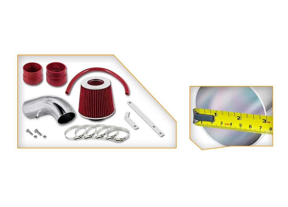 06-07//06-09 Chevy Monte Carlo//Impala SS 5.3L V8 5.3L V8 High Performance Parts Short Ram Air Intake Kit /& Red Filter Combo Compatible for Pontiac 04-08//05-08 Grand Prix 3.8L V8