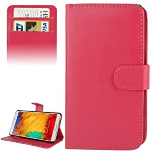 Fine Sheepskin Texture Flip Leather Case with Credit Card Slots & Holder for Samsung Galaxy Note 3 / N9000 (Magenta)
