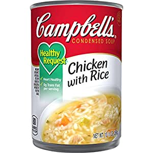 Campbell's Healthy Request Condensed Soup, Chicken with Rice, 10.5 Ounce (Pack of 12)