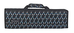 Messermeister 8 Pocket Knife Roll, Black with Print Lining