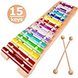 15 Keys Xylophone for Kids Best Gift for 1 2 3 4 Years Old Boy Girl Glockenspiel Xylophone Toy with...