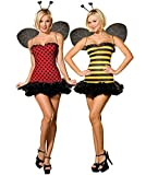 Dreamgirl Women's Reversible Bumble Bee/Lady Bug Costume, Multi, Medium