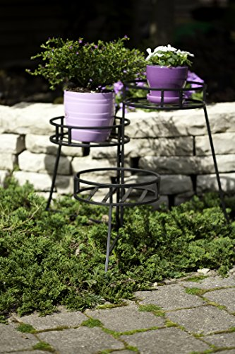 Panacea 86715 Plant Stand with Contemporary Design and 3-Tier Round