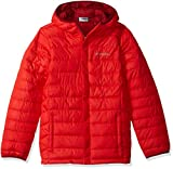 Columbia Boy's Little Powder Lite Puffer Water-Resistant Insulated Jacket, Red Spark, XX-Small