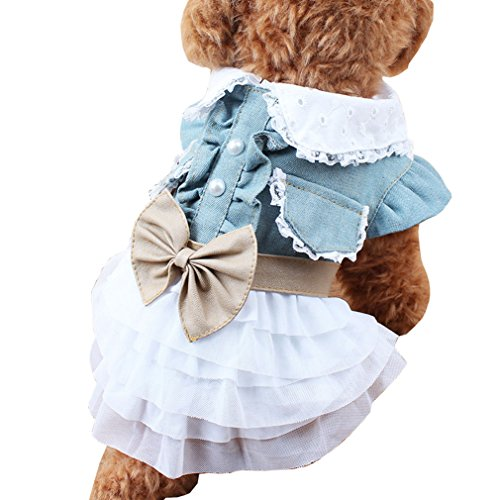 POP Small Girls' Dog Halloween Costumes Clothing Pet Christmas Dress for Princess -