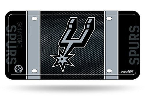 Rico NBA San Antonio Spurs Metal License Plate Tag