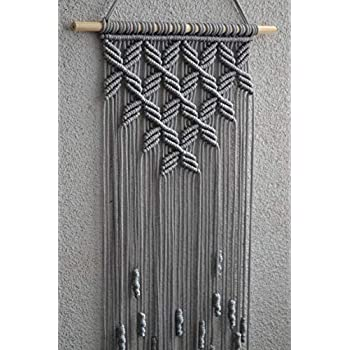 Macrame Wall Hanging. (Grey) 32.3 inches / 9.8 inches