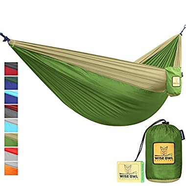 The Ultimate Single & Double Camping Hammocks- The Best Quality Camp Gear For Backpacking Camping Survival & Travel- Portable Lightweight Parachute Nylon Ropes and Carabiners Included! DOGK