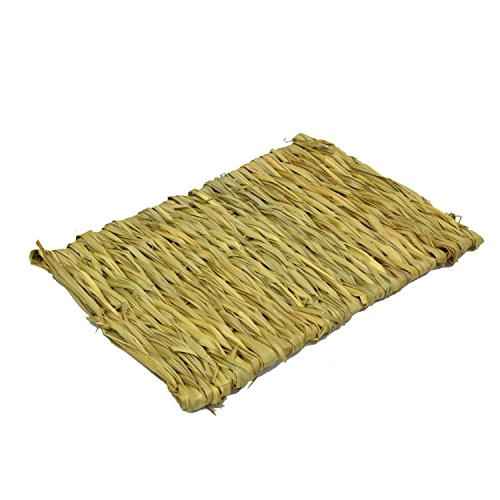 Simoce Edible Handmade Hay Mat for Rabbit, Hamster, Guinea-pig or Chinchilla, Sleep Bed for Small (Resting Mat)