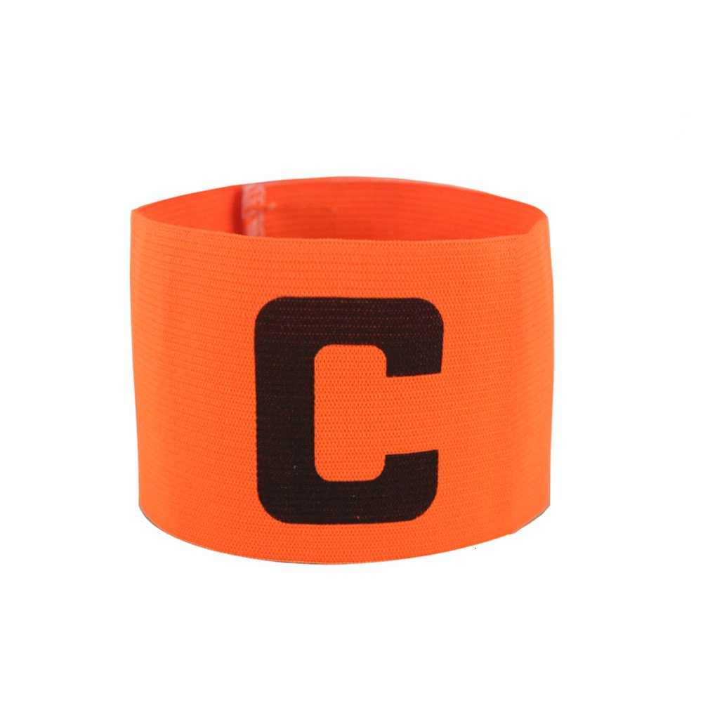 GOGO Soccer Football Captain Armband/Wristband Wholesale Lot, with C Print-neonOrange-4pcs