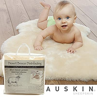 Desert Breeze Distributing Natural Sheepskin Baby Care Rug, Soft Dense Shorn Wool, Premium Quality, Specially Tanned and Sanitized