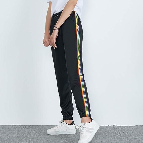 ❤ Pantalones de Rayas para Mujer, Cintura Media Pantalones Deportivos de impresión Casual Pantalones de harén Jogger Absolute: Amazon.es: Ropa y ...