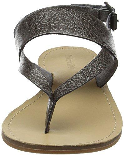 brand new unisex for sale cheap get authentic Timberland Women's Carolista Ankle Thonggunmetal Metallic Wedge Heels Sandals Gunmetal Metallic deals discount low shipping clearance manchester great sale AfLfzju33