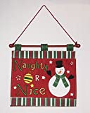 Naughty or Nice Wall Hanger Decoration