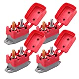 Ampper DC 12V - 24V Automatic Reset Circuit Breaker with Cover Stud Bolt for Automotive and More (20A, 4Pcs)