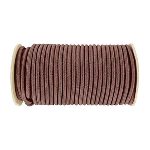 Shock Cord 1/4 inch - SGT KNOTS - Marine Grade Dacron Polyester Bungee - 100% Stretch - Moisture, UV, Weather Resistant - DIY Projects, Tie Downs, Commercial, Indoor, Outdoor (100 feet - Brown) by SGT Knots (Image #1)