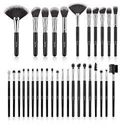 Makeup Brush Set, SOLVE 32 Pieces Professional Makeup Brushes Wooden Handle Cosmetics Brushes Foundation Concealer…