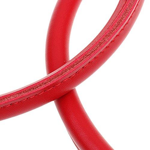 Sacchetto Borsa Cinture per 2pcs Portafoglio Rosso Cinghie Baoblaze TwOAXnxqw