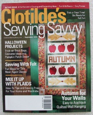 (Clotilde's Sewing Savvy Magazine. September 2004)