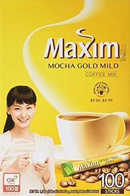 Maxim Mocha Gold Korean Instant Coffee - 100pks by Dongsuh