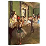 ArtWall 'The Dancing Class' Gallery-Wrapped Canvas Artwork by Edgar Degas, 20 by 24-Inch