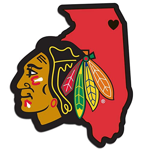 (Siskiyou NHL Chicago Blackhawks Home State Decal)
