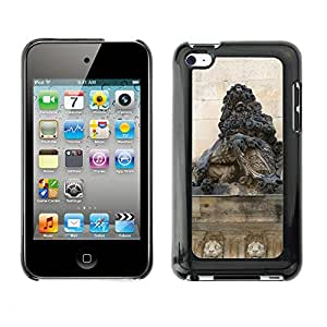Hot Style Cell Phone PC Hard Case Cover // M00170426 Dresden City Castle Lion Stone // Apple ipod Touch 4 4G 4th