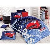 Sport Race %100 Cotton Boy's Race Performance Single Twin Duvet Quilt Cover Set Bedding Linens 3 Pcs