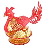 Feng Shui Wish-fulfilling Majestic Red Phoenix, Bejeweled Miniature - For Fame W Fengshuisale Red String Bracelet W8997