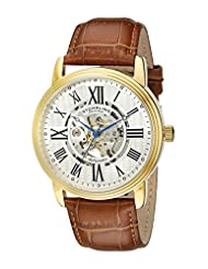Stuhrling Original Men's Classic Delphi Venezia Automatic Skeleton Brown Watch 1077.3335K2