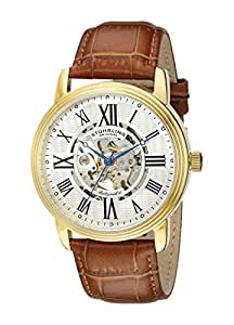 Stuhrling Original Men's 1077.3335K2 Classic Delphi Venezia Stainless Steel Watch with Leather Band