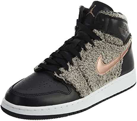 low priced 196ec e1204 Jordan Air 1 Retro High GG Big Kids Shoes Black Metallic Bronze White 332148