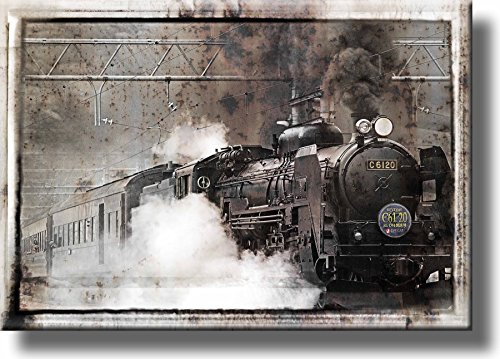 Steam Train Picture on Stretched Canvas, Wall Art Décor, Ready to Hang!
