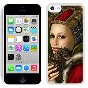 Beautiful And Unique Designed With Girl Dragon Animal Smile (2) For iPhone 5C Phone Case