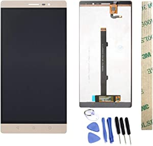 Dr.Chans LCD Display Screen Touch Digitizer Assembly Replacement with Free Tools for Lenovo PHAB 2 PB2-650M PB2-650 PB2-650N PHAB2 Gold