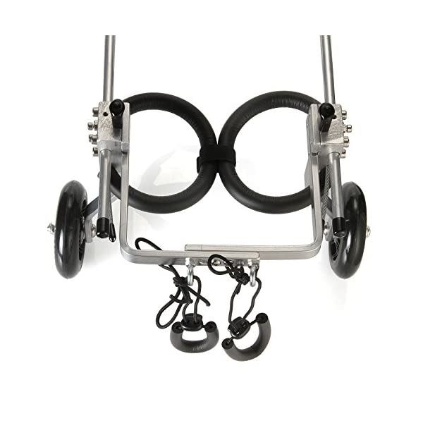 Anmas Sport Adjustable Dog Pet Wheelchair, Hind legs Rehabilitation (L-Hip Height: 13″-16″, Weight:20-40lbs) Click on image for further info. 7