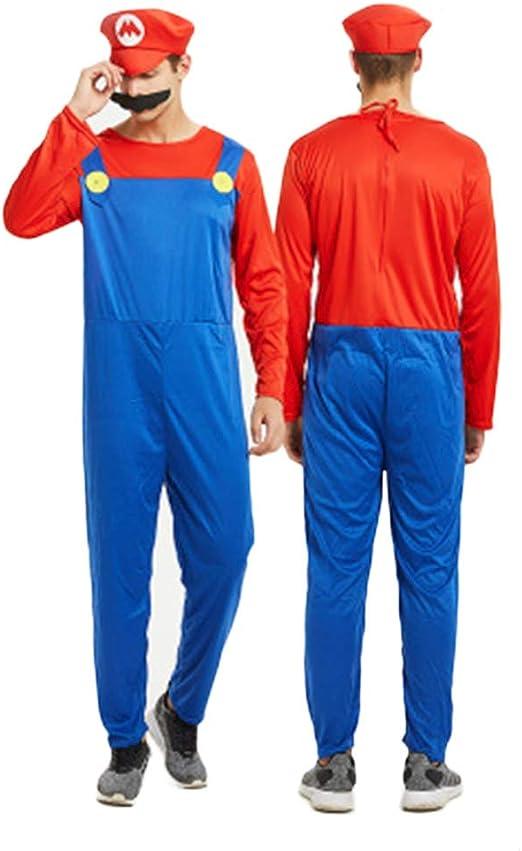 YANZZ Halloween Disfraz de Cosplay Padre-Hijo,Mario Super Marie ...