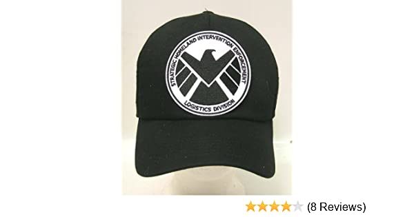 b7e69397b1f813 Amazon.com: AGENTS OF SHIELD TV Series Black & White Logo Baseball Cap/Hat  w Patch: Toys & Games