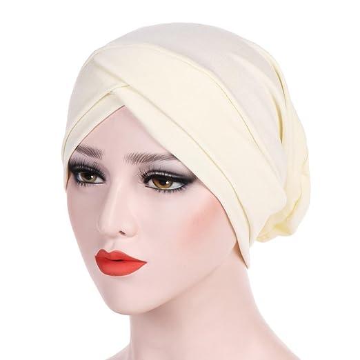 Veepola Chemo Hats Turban Head Caps for Women with Cancer Hair Loss (Beige) b7cb4503c5c