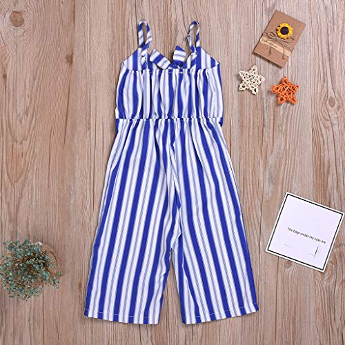 Beyonds Baby Toddler Newborn Girls Rompers, Strap Striped Sleeveless Bodysuit Soft Infant Jumpsuit Outfits Baby Onesies Playsuit Pants Clothes Summer ()
