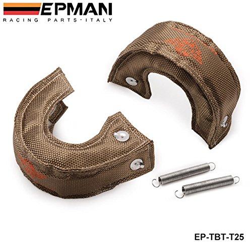 EPMAN - High Quality H Q T25/T28 GT25 GT28 GT30 GT35 TURBO/TURBOCHARGER TITANIUM HEAT SHIELD/WRAP BLANKET EP-TBT-T25 Bo Luo