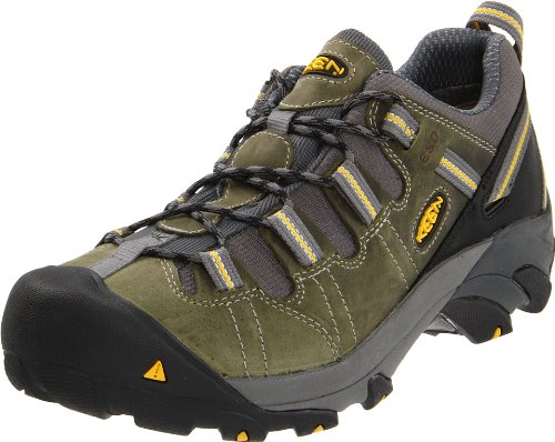 Keen Utility Mens Detroit Low ESD Soft Toe Work Boot,Black/Green,11.5 EE US