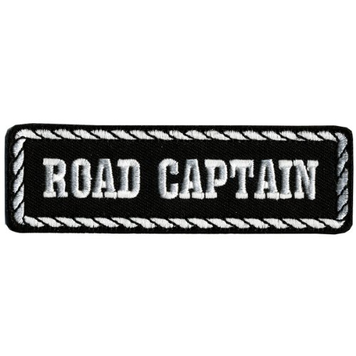 """Hot Leathers Road Captain Patch (4"""" Width x 1"""" Height)"""