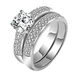 The New Style of the Platinum Gold Ring Inlaid with Diamond Engagement Rings 0110-b (us 6)