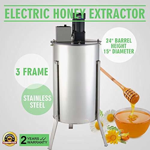 OrangeA Honey Extractor Bee Honey Extractor Electric Honeycomb Spinner 3 Three Frame Stainless Steel Beekeeping Accessory (3 Frame Electric Honey Extractor) by OrangeA