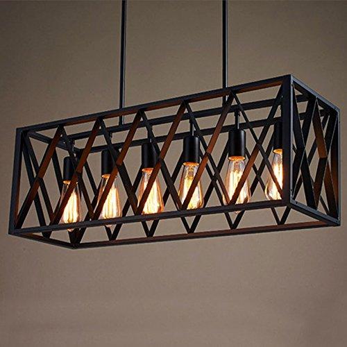 Frideko Vintage Industrial Metal Bird Cage Ceiling Pendant Light for Home Office Restaurant Dining Room Bar Pub Café (8 Sockets) - Silver Lake Ceiling Fan