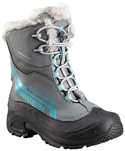 - Columbia Girls' Youth Bugaboot Plus IV Omni-Heat Snow Boot, ti Grey Steel, Pacific Rim, 5 Regular US Big Kid