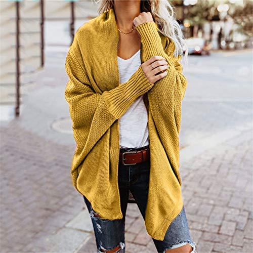 Cou Femme Jaune Bellelove Pull De Longues Femmes Manches Chandail Le Lache Casual 1 Pull V paule Acrylique Hors PC Mode Tricot OIrRxIqw
